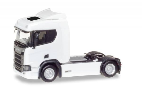 307642 - Herpa - Scania CR20 ND Zugmaschine mit Sonnenblende, weiß