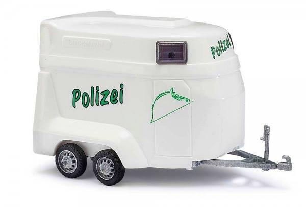 44925 - Busch - Pferdetransportanhänger -Polizei-