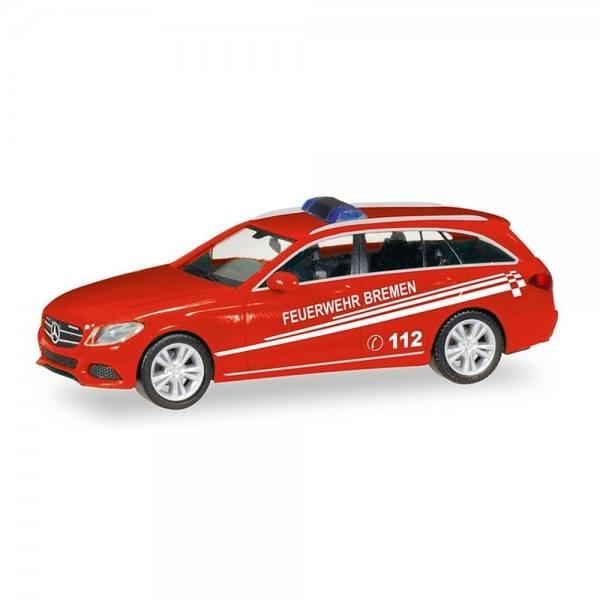 "093583 - Herpa - Mercedes-Benz C-Klasse T-Modell Kommandowagen ""Feuerwehr Bremen"""