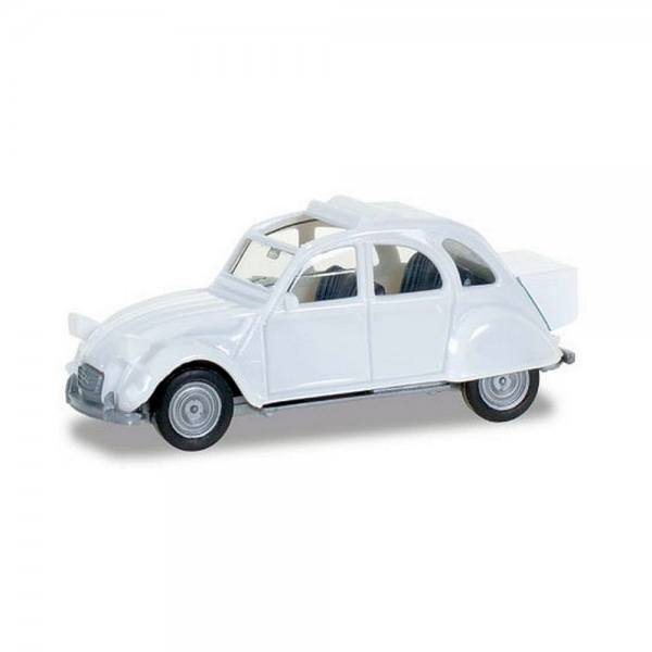 027632-003 - Herpa - Citroen 2 CV mit Queue, weiß