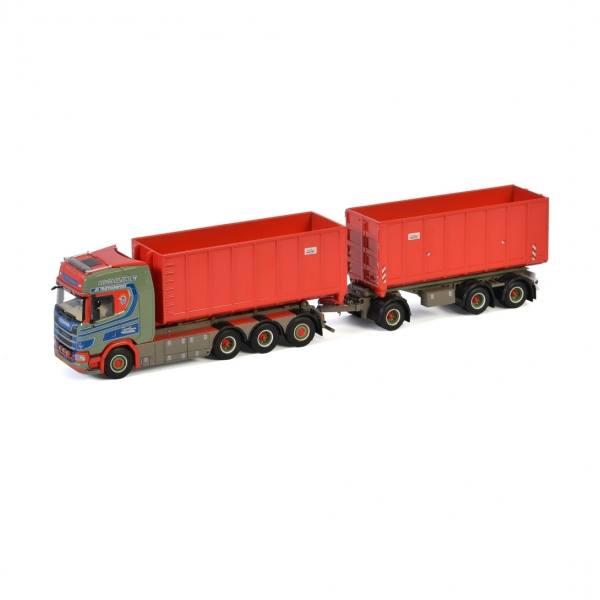 01-3186 - WSI - Scania R CS20H 8x4 mit Hakensystem und 2 Containermulden 40cbm - Jan Hansen - DK -