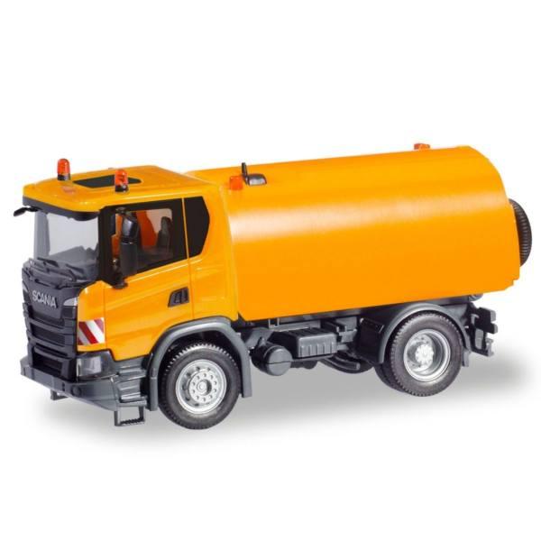 310888-1:87 Herpa Scania CG 17 Kehrfahrzeug kommunal orange