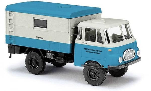 """51605 - Busch - Robur LO 1800 A Koffer """"Meßfahrzeug Traktorenwerk Schönebeck"""" DDR"""