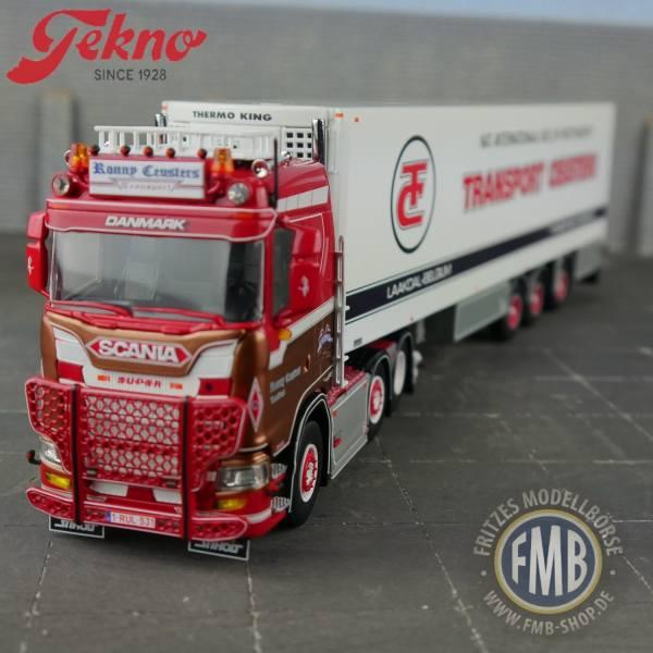 71644 - Tekno - Scania S Lowline 6x2 3achs Zugmaschine Zamac Kühlauflieger - Ceusters Ronny - BE -