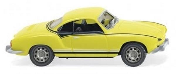 080509 - Wiking - VW Karmann Ghia Coupé -Gelb-Schwarzer Renner-