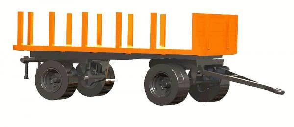 06251 - VK Modelle - Rungenanhänger, kommunalorange - Bausatz 1:87