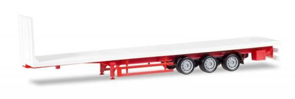 076845 - Herpa - Lowliner-Flachbett-Auflieger 3achs, weiß