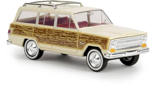 """19857 - Brekina - Jeep Wagoneer (Baujahr 1966-1970), hellelfenbein """"Woody"""""""