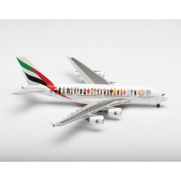 """534352 - Herpa - Emirates Airbus A380 """"Year of Tolerance"""""""