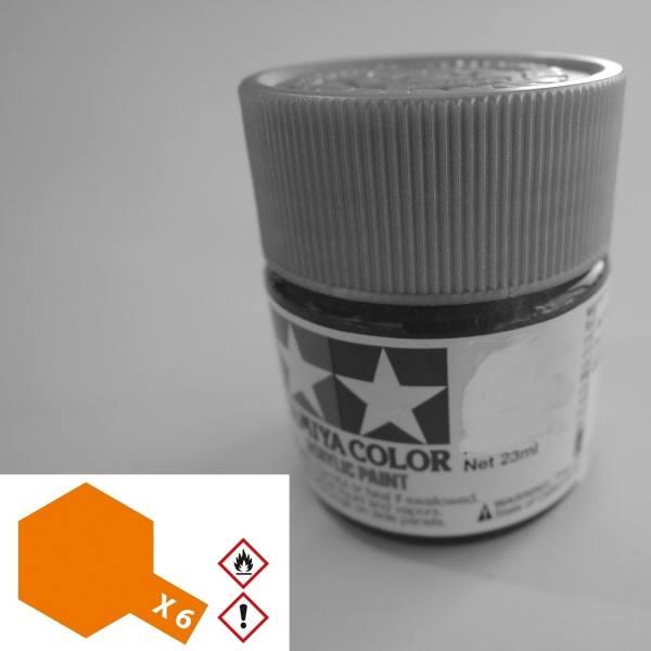 81006 - Tamiya - Acrylfarbe 23ml, orange glänzend X-6