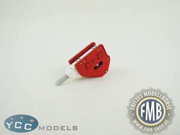 YC401-2R - YCC Models - Hammer für Baggermodelle in rot/weiß