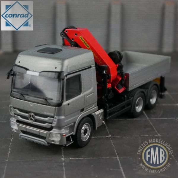72188/0 - Conrad - Mercedes-Benz Actros MP3 mit Palfinger-Kran und Pritsche