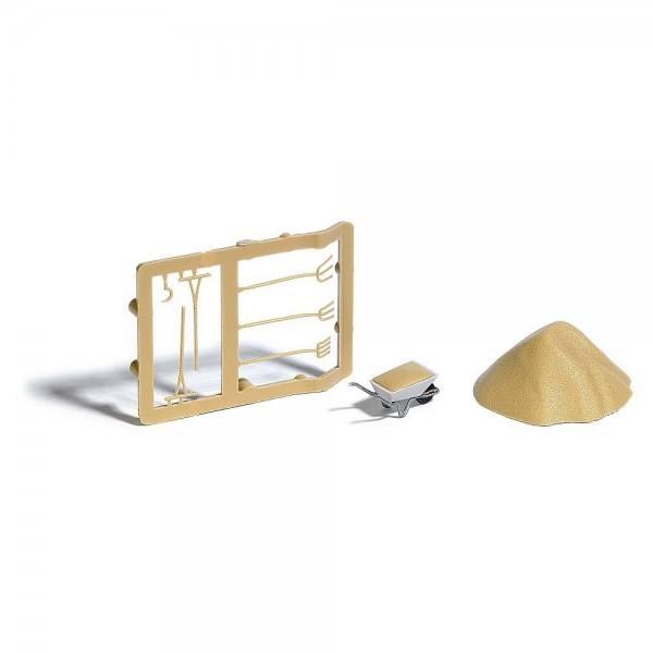7787 - Busch - Set Sandhaufen und Schubkarre