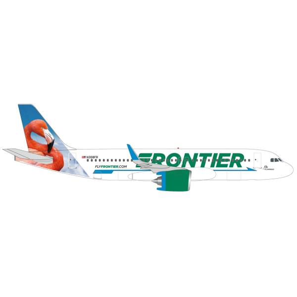 """534697 - Herpa Wings - Frontier Airlines Airbus A320neo """"Flo the Flamingo"""""""