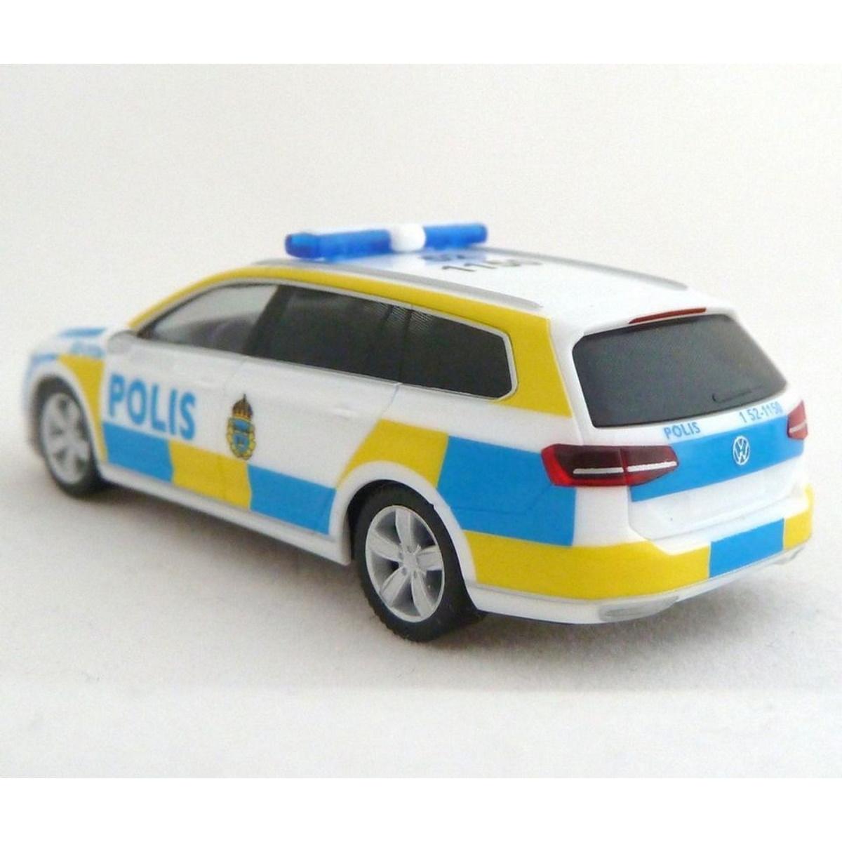 1//87 Herpa VW Passat Variant Polis Schweden Dachkennung 52