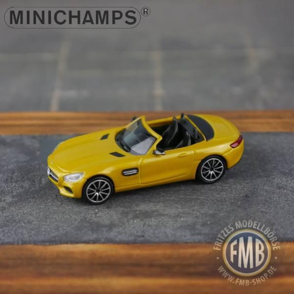 037132 - Minichamps - Mercedes-Benz AMG GT-S Roadster (2015), gelb metallic