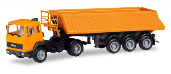 309356 - Herpa - Iveco Magirus Baukipper-Sattelzug, orange