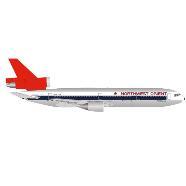 534369 - Herpa - Northwest Orient Airlines McDonnell Douglas DC-10-40 - N155US -