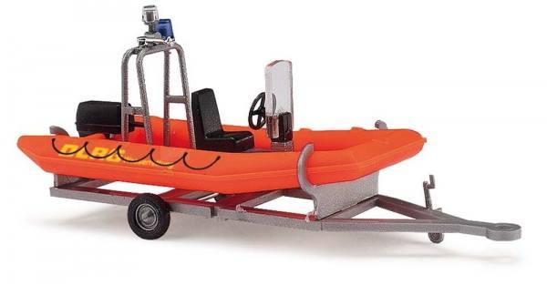 """59951 - Busch - Anhänger mit Motorboot """"DLRG"""""""