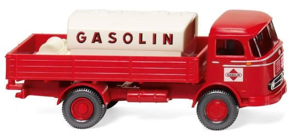"""043804 - Wiking - Mercedes-Benz LP 321 mit Aufsatztank """"Gasolin"""""""