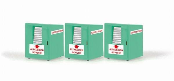 70259 - Rietze - Altkleidercontainer, 3 Stück