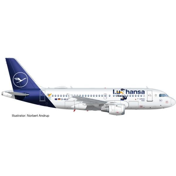 """534451 - Herpa - Lufthansa Airbus A319 """"LU"""" - """"Verden"""""""