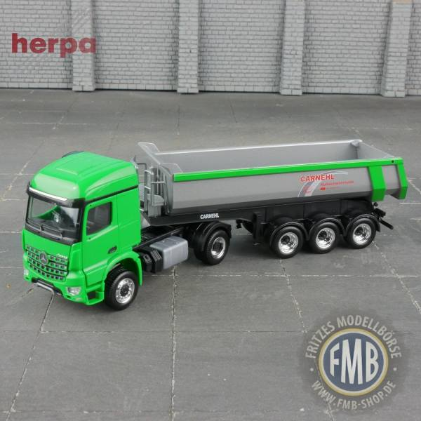 "936910 - Herpa - Mercedes-Benz Arocs StreamSpace Carnehl Rundmulden-Kipp-Sattelzug ""Carnehl"", grün"