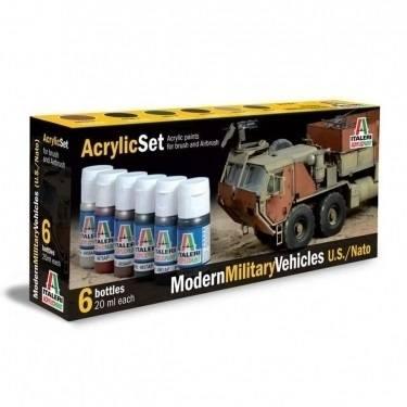 442 - Italeri - Acryl Farb Set - Moderne Militärfahrzeuge -