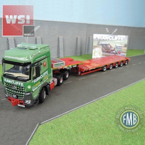 02-2085 - WSI - Mercedes-Benz Arocs 6x4 mit 5achs Semi-Tieflader - J.B. Rawcliffe & Sons LTD - UK -