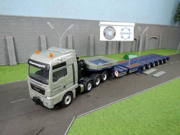 70178/03 - Conrad - MAN TGX  mit 6achs Goldhofer  Semitieflader - Kranlogistik Lausitz