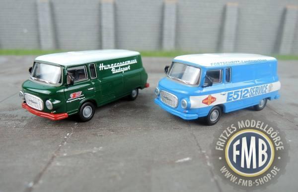 45730 - Brekina - Modellset Barkas B1000 Kastenwagen - 2 Stück