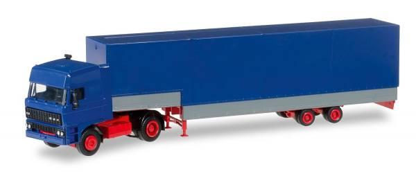 012867 - Herpa - Minikit  DAF 3300 Jumboplanen-Auflieger -blau-