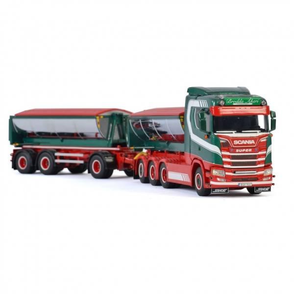 01-2898 - WSI - Scania S 8x4 mit Hakensystem und Asphaltcontainer - Brodda Akeri - S -
