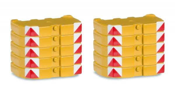 """053778 - Herpa - Ballastgewichte für LR1600 """"Liebherr gelb"""" 10 Stück"""