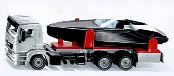 2715 - Siku - MAN TGS mit Motorboot