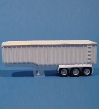 100050 - Bausatz - 30ft Kippauflieger, unlackierter Kunststoff