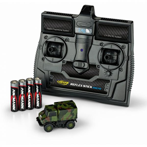 500504127 - Carson - Mercedes-Benz Unimog U406 , Camouflage mit Fernbedienung 2.4 G