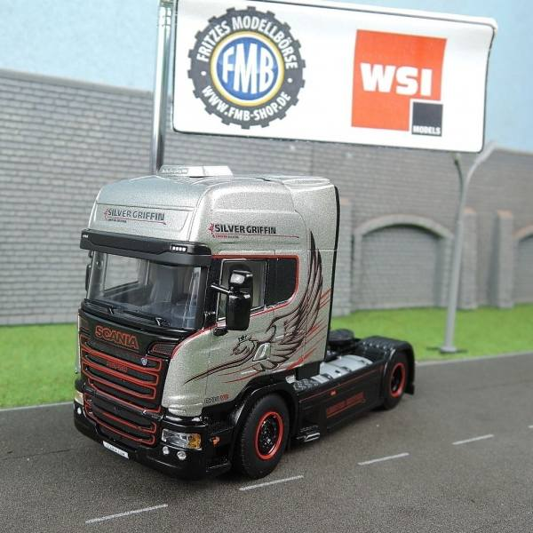04-1178 - WSI - Scania R Streamline TL 2achs Zugmaschine - Silver Griffin - NL -