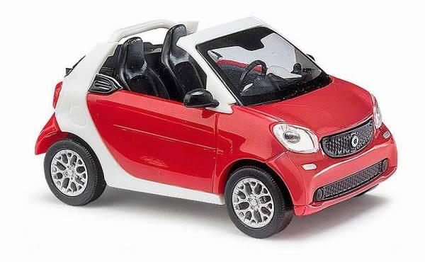 50778 - Busch - Smart Fortwo Cabrio''15  rot / weiß