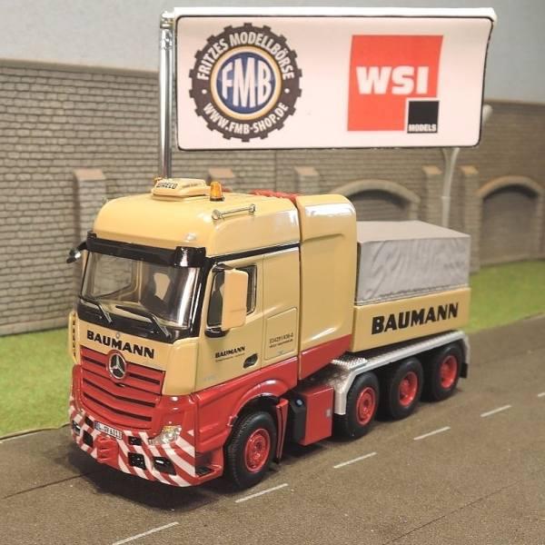 """01-2006 - WSI - Mercedes-Benz Actros BigSpace 8x4 SLT Zugmaschine m. Ballastbrücke """"Baumann Leipzig"""""""