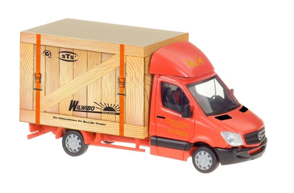 Herpa 013437 Minikit MB Sprinter 13 Kofferaufbau weiß Scale 1 87