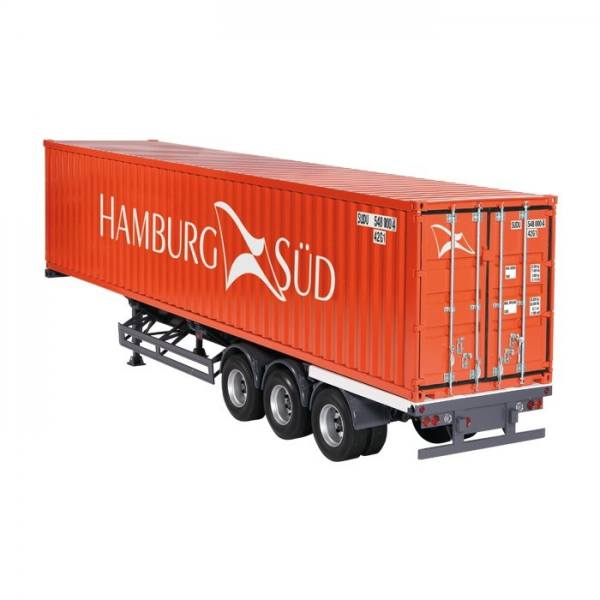 9791/01 - NZG - 3achs Containerauflieger mit 40ft. Container - Hamburg Süd
