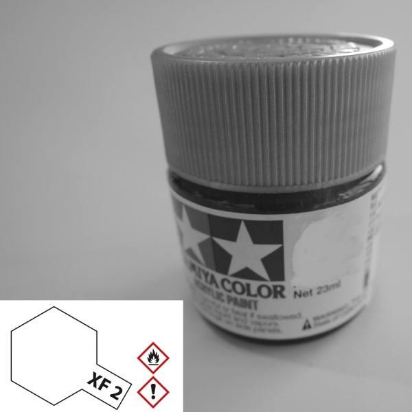 81302 - Tamiya - Acrylfarbe 23ml, weiß matt XF-2