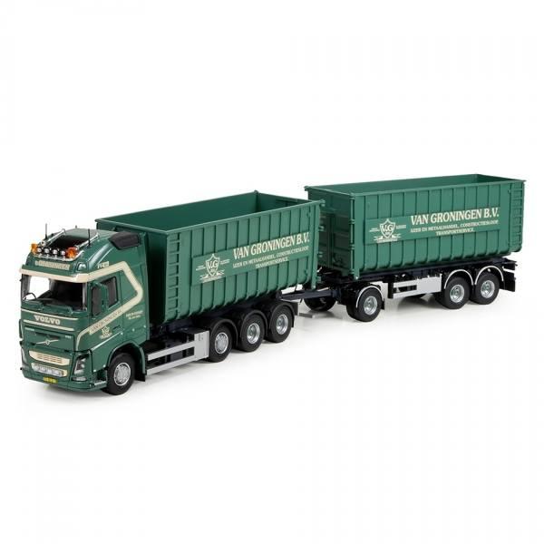 74589 - Tekno - Volvo FH4 GL XL 4achs mit 3achs Anhänger und 2 Container - van Groningen - NL -