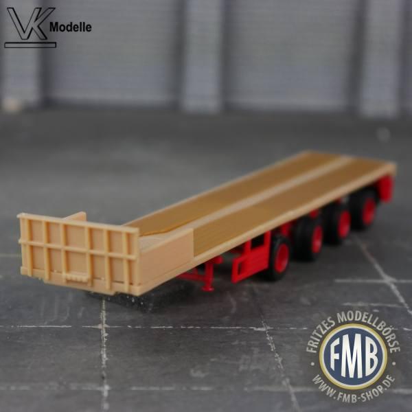 02481 - VK Modelle - Ballastauflieger 4achs - ES-GE - beige/rot