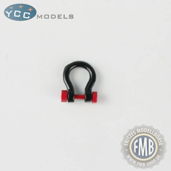 YC639-3 - YCC Models - Schäkel 150-200 t, schwarz - Set 10 Stück