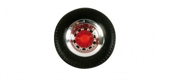 052610 - Herpa - Radsatz für Auflieger [chrom/rot) -12 Sätze-