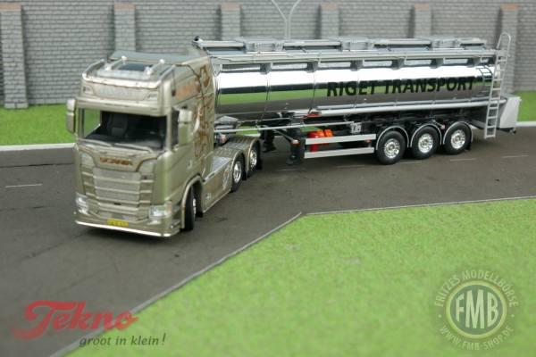 72571 - Tekno - Scania S-serie mit 3achs Tankauflieger - Riget - DK -