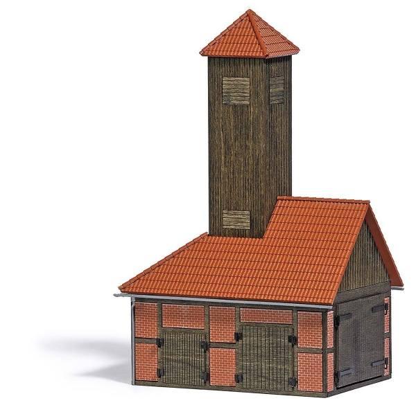 1453 - Busch - Feuerwehrgebäude, einständig - Bausatz
