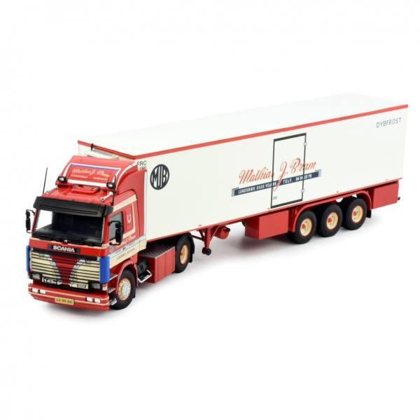 81661 - Tekno - Scania 3-serie 143-450 mit 3achs Kühlauflieger - J.Bram Matthias - DK -